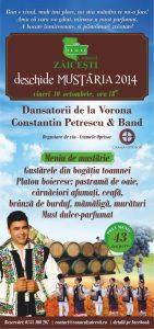 Conacul Zaicesti - mustarie 2014 flyer 99x210 x3